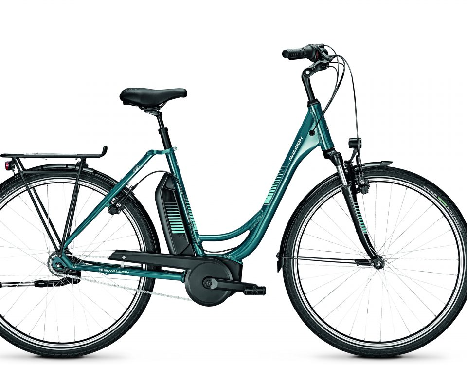Raleigh Jersey 7 Topasblue glossy bosch mid motor productfoto