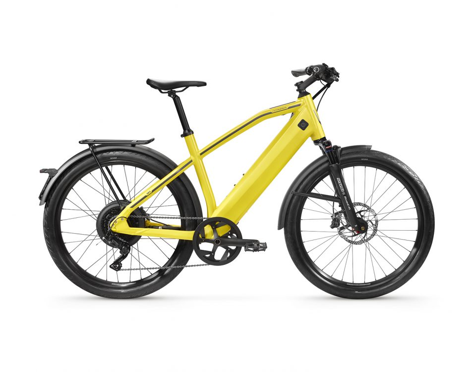 Stromer ST1 ltd edition yellow sport zijkant