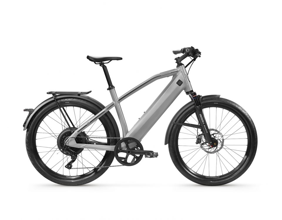 Stromer ST1 light grey sport zijkant productfiche