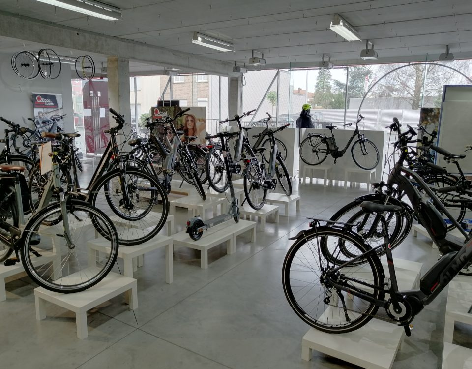 Showroom ebikes Roeselare CEC
